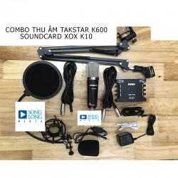COMBO MICRO THU ÂM TAKSTAR K600 + SOUND CARD XOX K10
