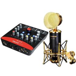 COMBO MICRO THU ÂM TAKSTAR K820 + SOUND CARD ICON UPOD PRO