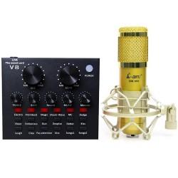 COMBO THU ÂM SOUND CARD V8 + MICRO Ami BM-900