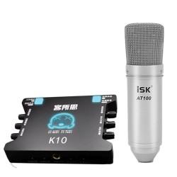 COMBO MICRO THU ÂM ISK AT100 + SOUNDCARD XOX K10
