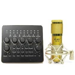 COMBO MICRO THU AMI BM-900 + SOUNDCARD AQTA V10
