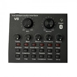 Soundcard thu âm V8 Bluetooth