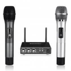 Micro Karaoke Excelvan K28 (Mic Đôi + bộ phát)