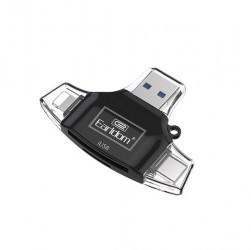 Đầu đọc thẻ Earldom ET-OT31 - 4 trong 1 (Lightning, Type-C, Micro USB, USB) cho thẻ nhớ SD, Micro SD